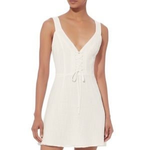 INTERMIX The East Order White Carmen Mini Dress, S